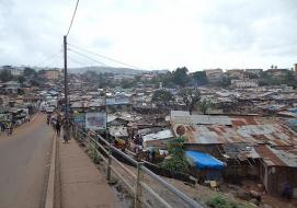 A panoramic view of Kroo Bay, an epitome of poverty in Sierra Leone